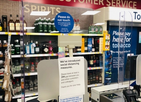 BENCHMARK PROVIDES PROTECTIVE SCREENS FOR TESCO EXPRESS CHECKOUTS
