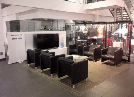 New Samsung unit in Porsche Showroom